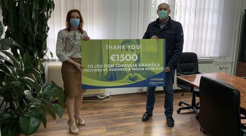 """ЈЗУ """"Дом здравља"""" Градишка добио новчану донацију"""