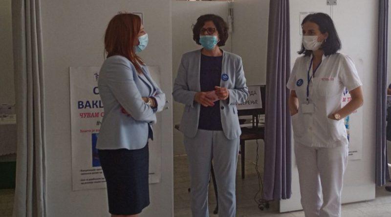 Министарка Јујић заједно са градоначелником Аџићем посјетила вакцинални центар Дома здравља Градишка
