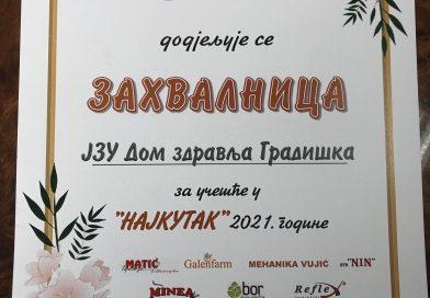 Дом здравља освојио другу награду за најуређеније двориште у категорији правних лица